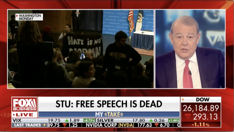 Colleges allow protesters to shut down free speech: media silent.