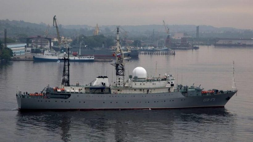 Russian spy ship off US coast acting in 'unsafe manner'