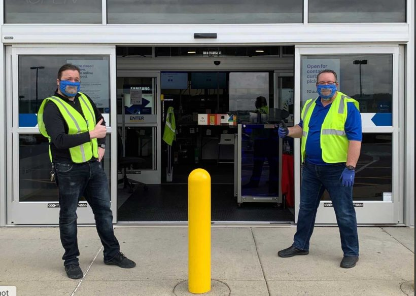 Store makes clear face coverings for hearing-impaired manager