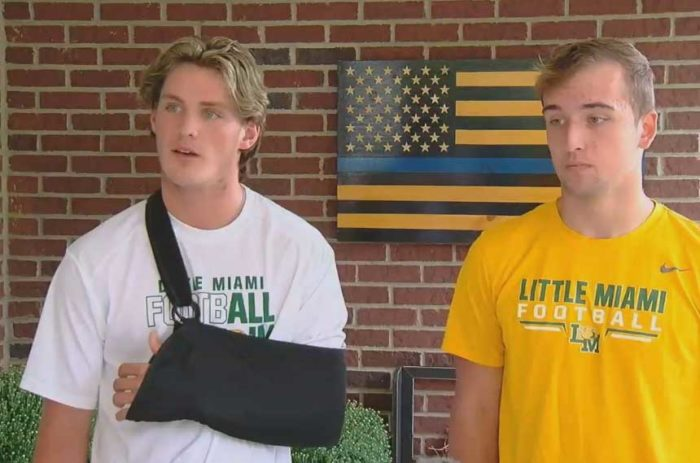 High school suspends players for carrying flags supporting police, firefighters on 9/11