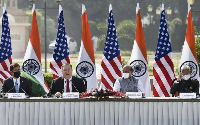 World #1: India and US sign landmark military agreement