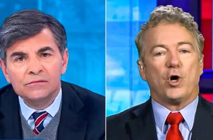 Libertarian Senator Rand Paul debates election fraud with ABC's Stephanopoulos