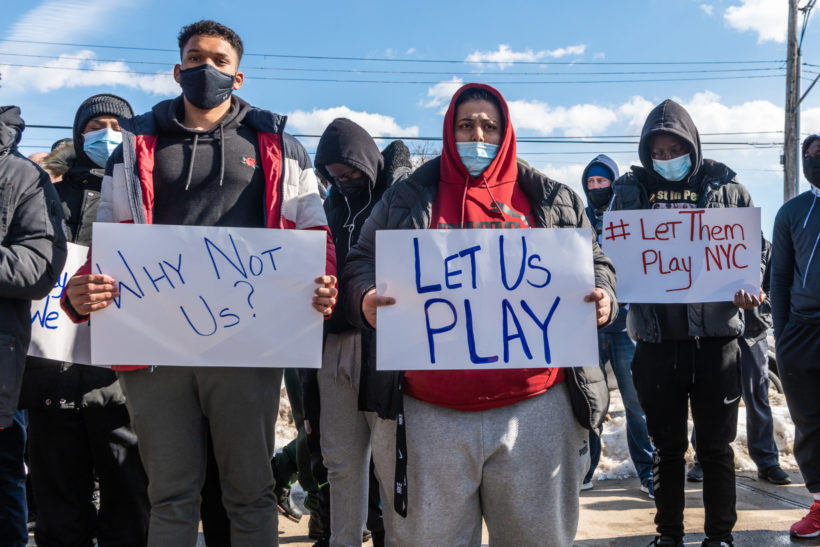 NYC students rally: Open our schools, let us play sports