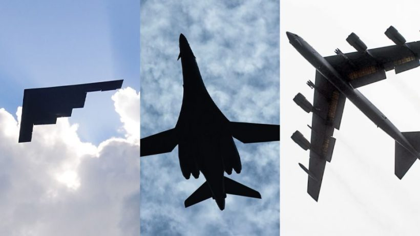 Trifecta of Air Force bombers to fly over Super Bowl