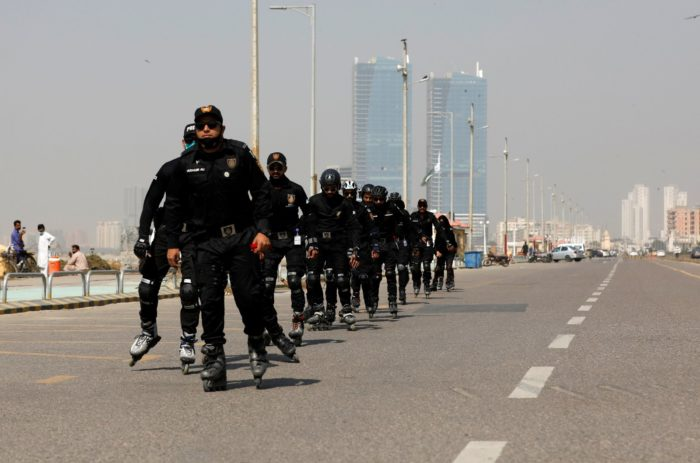 World #2 – Pakistan's new roller-blade armed police response unit