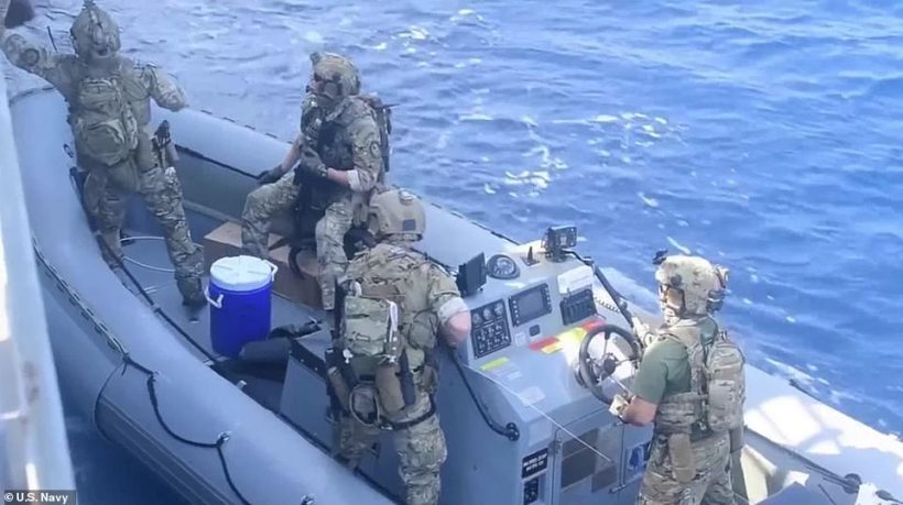 World #1 – US Navy seizes thousands of assault weapons from ship allegedly sent by Iran