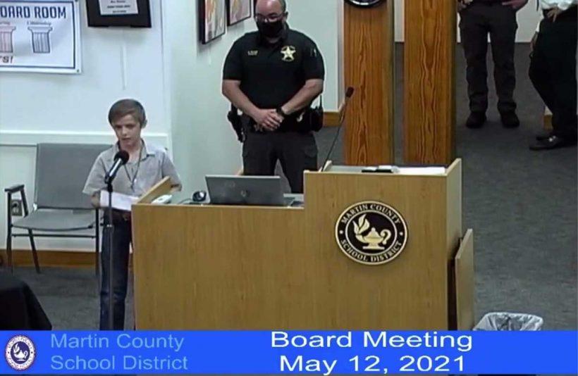Florida 4th grader asks school board to end mask mandate